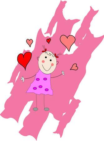 릴 소녀는 당신을 사랑합니다.