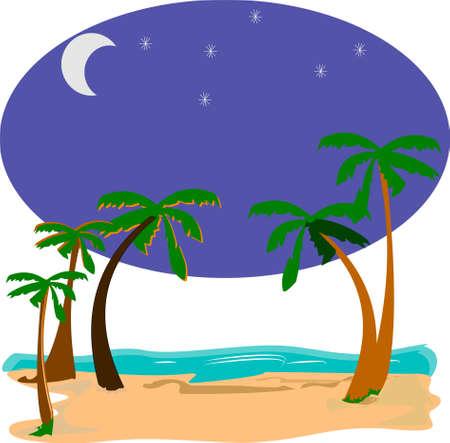 star background: summer nights Illustration