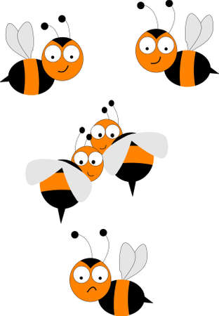 cartoons animals: bee swarm