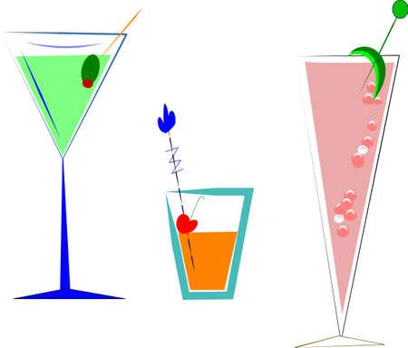 pimento: drinks on white