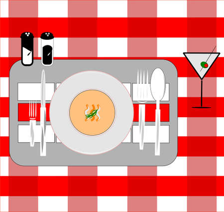 plate of food: placement card for restaurants
