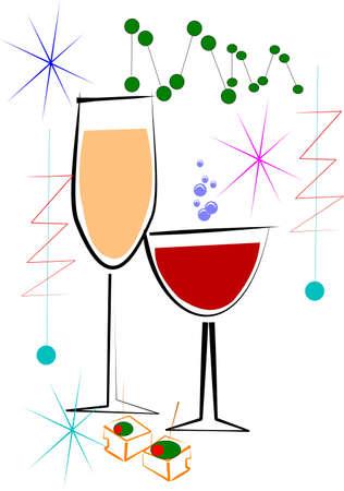 wine and cheese  Иллюстрация