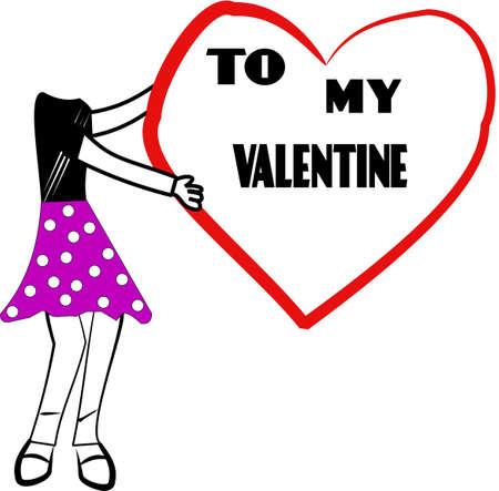 to my valentine Banco de Imagens - 10814564