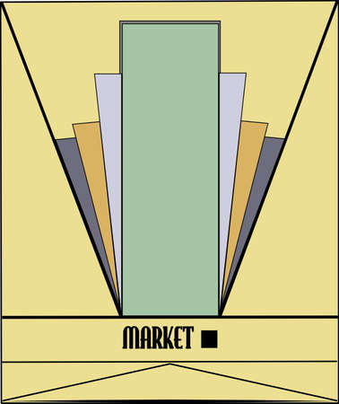 market aquare pop art background Vector