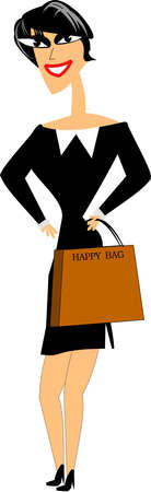 gray suit: happy shopper