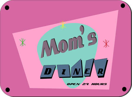 diners: moms diner in retro style