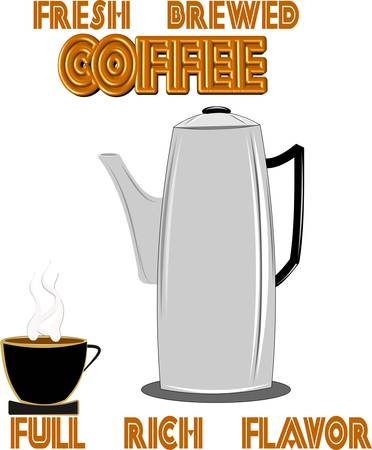 retro perc coffee maker from 50 Stock Vector - 10942150