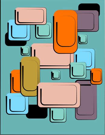 レトロ: レトロなパターン  イラスト・ベクター素材
