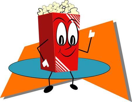popcorn in retro style Zdjęcie Seryjne - 10985037