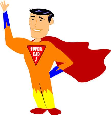 super dad Stock Vector - 11076570