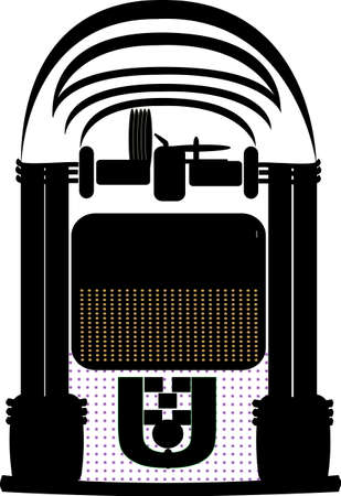 jukebox silhouette Stock Vector - 11216335