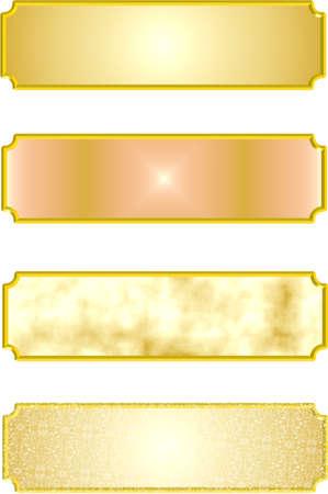 3 d で金属銘板  イラスト・ベクター素材