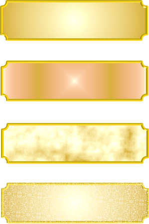 metal nameplates in 3d  Vector