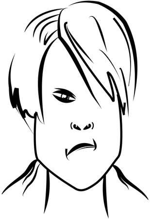 lad: ni�o enfadado Vectores