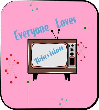 vintage television: retro television signage