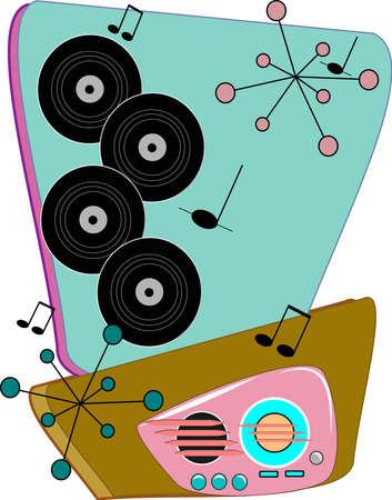 vinyl: retro pattern from fifties Illustration