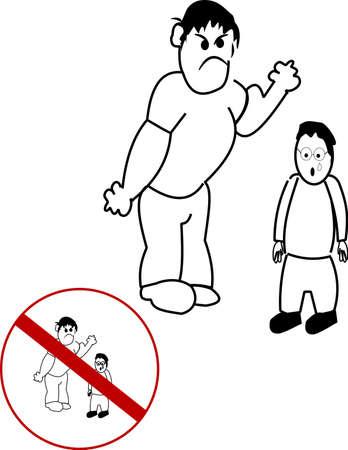 patio escuela: intimidaci�n Vectores