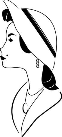 gazing: classy lady sketch  Illustration