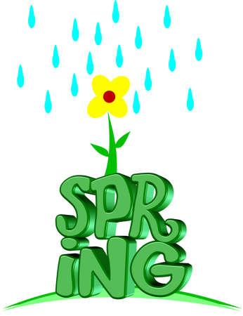 springtime: 3d spring illustration  Illustration