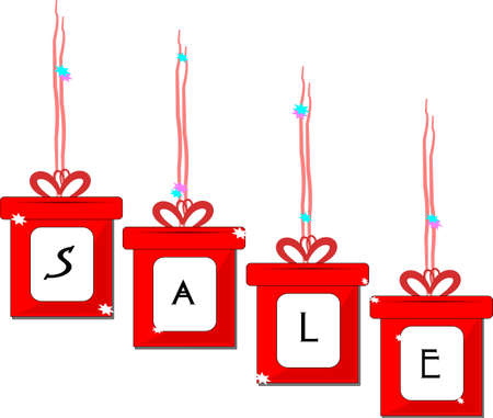 box sale over white Stock Vector - 11809378