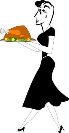 platter: turkey dinner