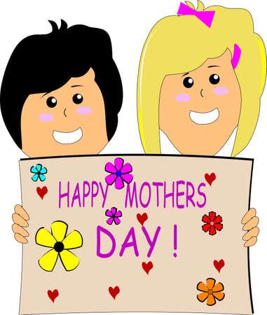 day care: mamme giorno speciale nel mese di maggio Vettoriali