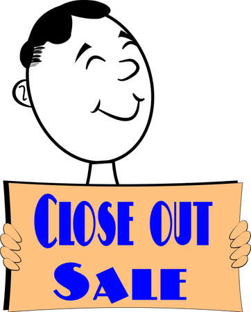 closeout: retro closeout sale sign background