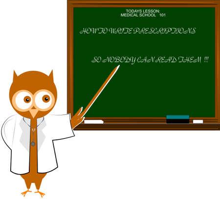 medical study: medico gufo dare lezioni ai medici