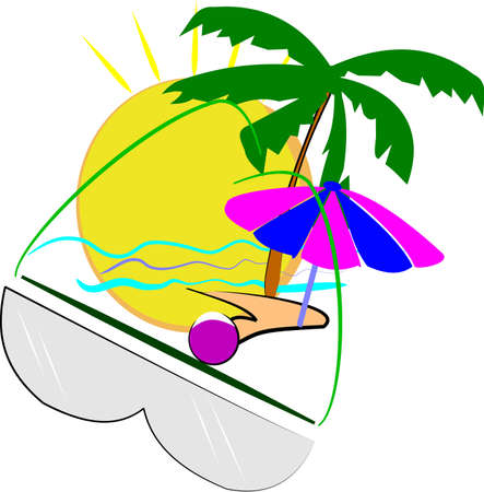 summer 2012 over white Vector