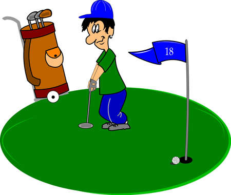 golfer on the green  Vector