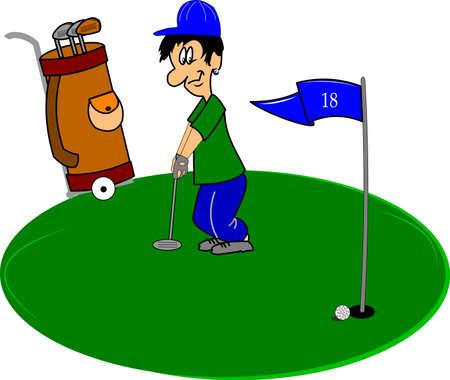 golfer op de green
