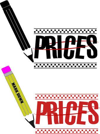roped: price markdown over white Illustration