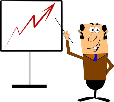 sales chart  in cartoon style Stock Vector - 12086100