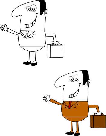 salesman  over white vector