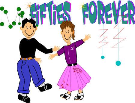 era: fifties forever  Stock Photo