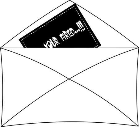 封筒に発射されたメッセージ  イラスト・ベクター素材