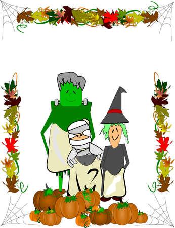 halloween kids in costumes Stock Vector - 12313737