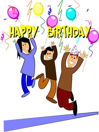 happy birthday for kids Stock Vector - 12313735