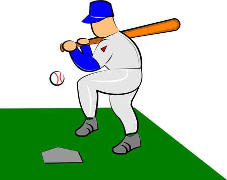 baseball player   イラスト・ベクター素材