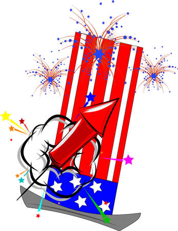 july the fourth clipart  Stock Vector - 12783854