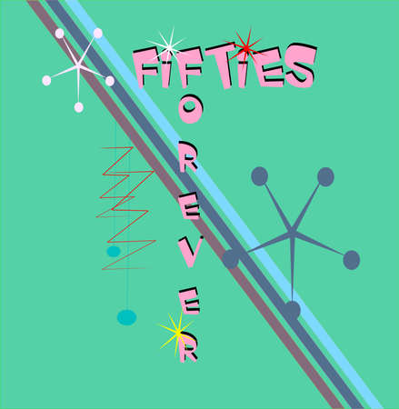 fifties forever background   イラスト・ベクター素材