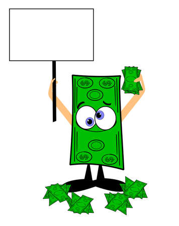 copyspace であなたのお金の販売サインを保存します。  イラスト・ベクター素材