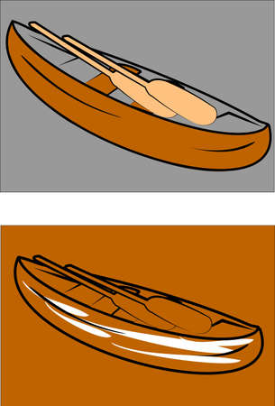 canoes with paddles Çizim