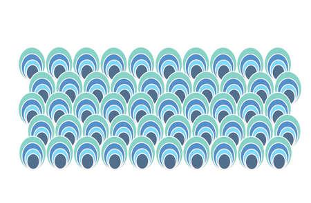 popular retro pattern from the fifties  Ilustração