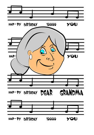 happy birthday grandma Vector