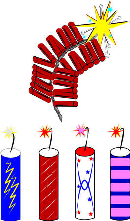 cracker: firecrackers  Illustration