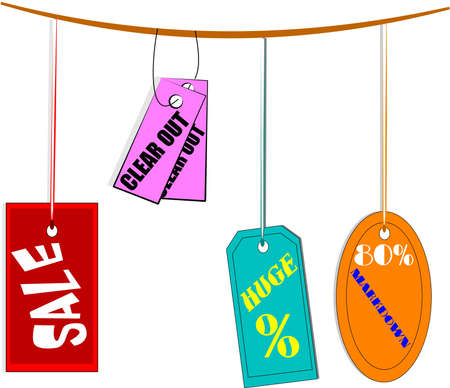 wording: discount sale signs and tags