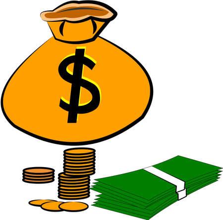 geld: bespaar je geld op een witte Stock Illustratie