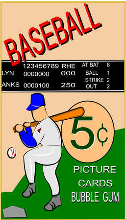 old time baseball card Vector