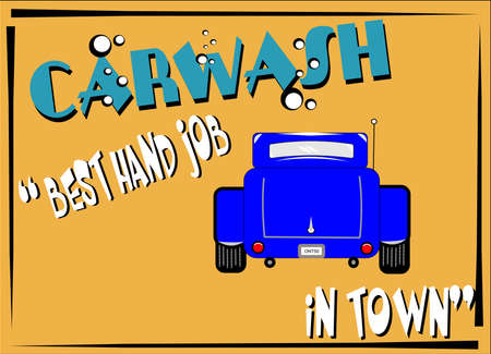 retro carwash  background sign photo